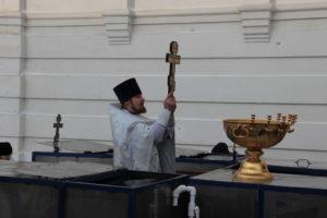 Отец Кирилл на Иордани.